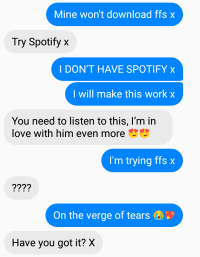 My convo with a pal