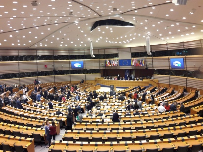 Hemicycle at EU Parliament